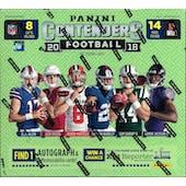 2018 Panini Contenders Football 14-Pack Mega Box