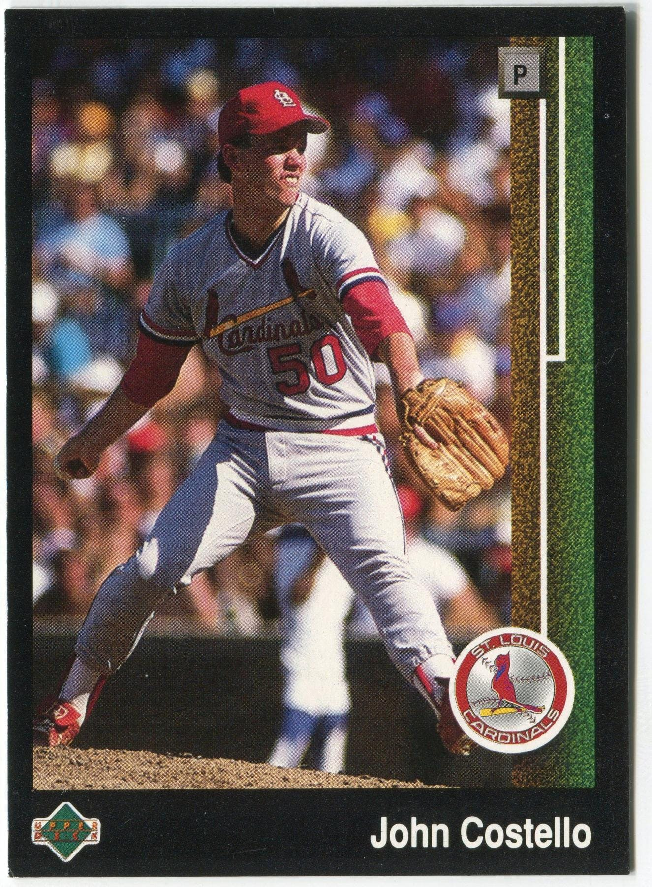 1989 Upper Deck John Costello St Louis Cardinals 625 Black Border Proof