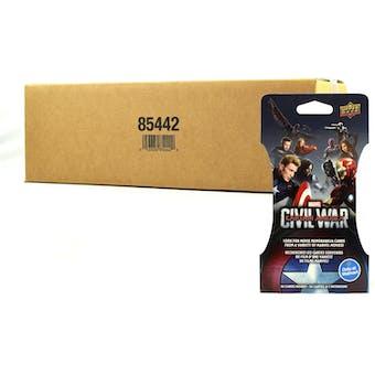 Marvel Captain America: Civil War Trading Cards Super Pack 216 Ct. Case (Upper Deck 2016)