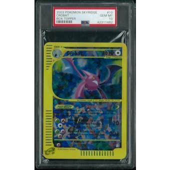 Pokemon Skyridge Crobat Box Topper 10/12 PSA 10 GEM MINT