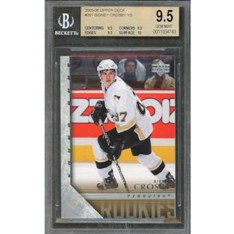 2005/06 Upper Deck Young Gun Sidney Crosby BGS 9.5 card #201
