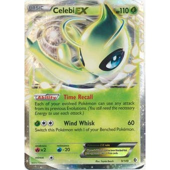 Pokemon Plasma Storm Single Celebi EX 9/149