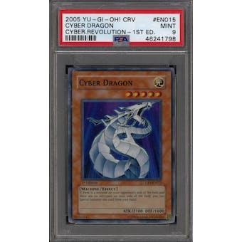 Yu-Gi-Oh Cybernetic Revolution 1st Edition Cyber Dragon CRV-EN015 PSA 9