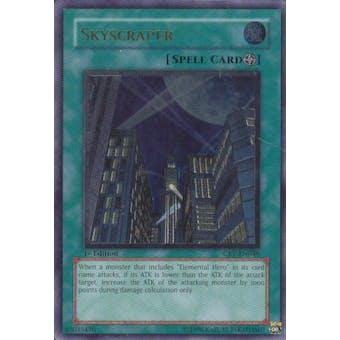 Yu-Gi-Oh Cybernetic Revolution 1st Ed. Single Skyscraper Ultimate Rare - SLIGHT PLAY (SP)