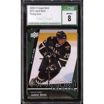 2009/10 Upper Deck Young Gun Jamie Benn CSG 8 card #212