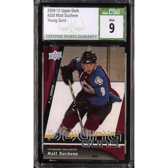 2009/10 Upper Deck Young Gun Matt Duchene CSG 9 card #203