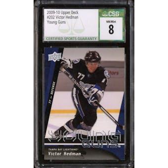 2009/10 Upper Deck Young Gun Victor Hedman CSG 8 card #202