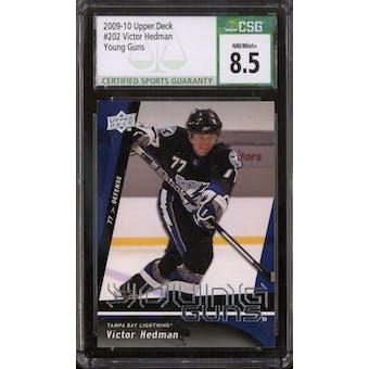 2009/10 Upper Deck Young Gun Victor Hedman CSG 8.5 card #202