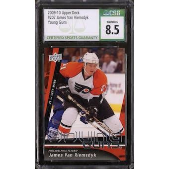 2009/10 Upper Deck Young Gun James Van Riemsdyk CSG 8.5 card #207