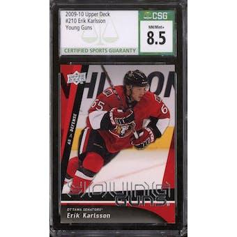 2009/10 Upper Deck Young Gun Erik Karlsson CSG 8.5 card #210