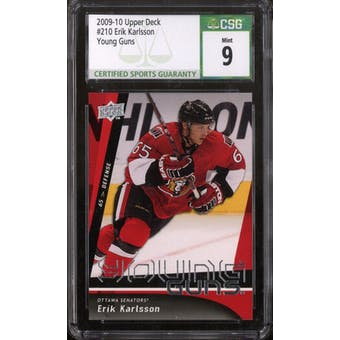 2009/10 Upper Deck Young Gun Erik Karlsson CSG 9 card #210