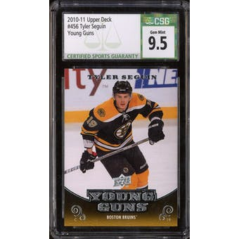 2010/11 Upper Deck Young Gun Tyler Seguin CSG 9.5 card #456