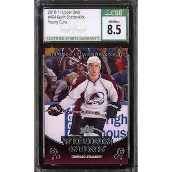 2010/11 Upper Deck Young Gun Kevin Shattenkirk CSG 8.5 card #464