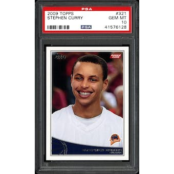 2009/10 Topps Steph Curry PSA 10 card #321