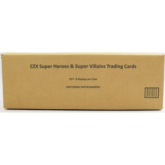 CZX Super Heroes & Super Villains Hobby 6-Box Case (Cryptozoic 2019)