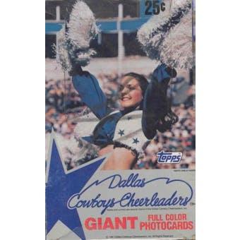 Dallas Cowboys Cheerleaders Trading Cards Wax Box (1981 Topps)