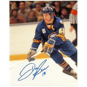 Danny Gare Autographed Buffalo Sabres Olympic Patch 8x10 Hockey Photo