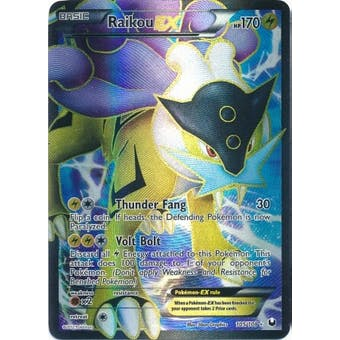 Pokemon Dark Explorers Single Raikou EX 105/108 - MODERATE PLAY (MP)