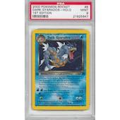 Pokemon Team Rocket 1st Edition Single Dark Gyarados 8/82 - PSA 9