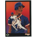 1989 Upper Deck Darryl Strawberry New York Mets Blank Back Black Border Proof