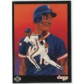 1989 Upper Deck Darryl Strawberry New York Mets Blank Back Black Border Proof