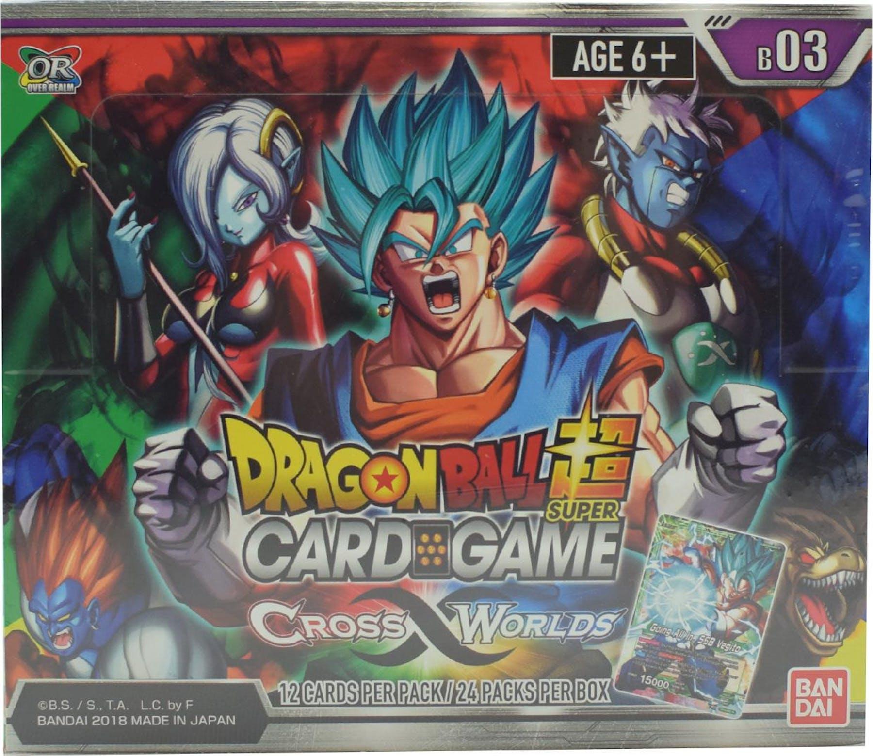 Dragon Ball Super TCG Cross Worlds Booster 12-Box Case