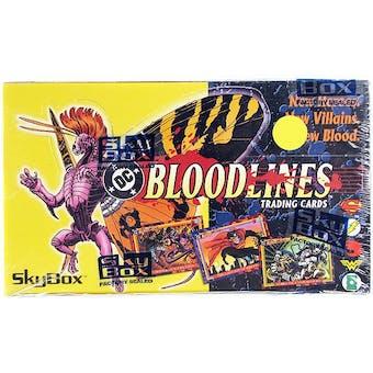 DC Bloodlines Wax Box (1993 Skybox)