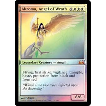 Magic the Gathering Duel Deck Single Akroma, Angel of Wrath Foil - SLIGHT PLAY (SP)