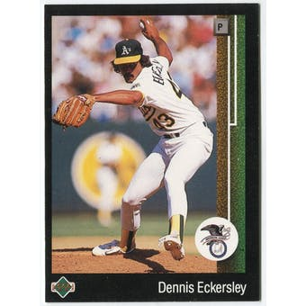 1989 Upper Deck Dennis Eckersley Oakland A's Blank Back Black Border Proof