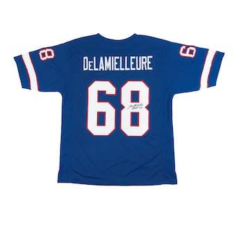 Joe DeLamielleure Autographed Buffalo Bills Blue Football Jersey JSA