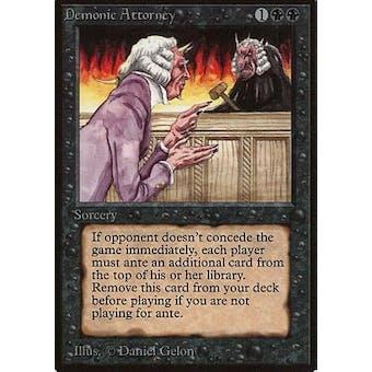 Magic the Gathering Beta Single Demonic Attorney - NEAR MINT (NM)