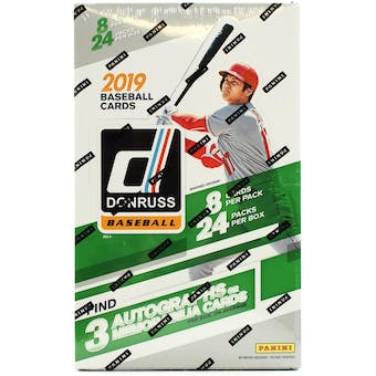 2019 Panini Donruss Baseball Hobby Box