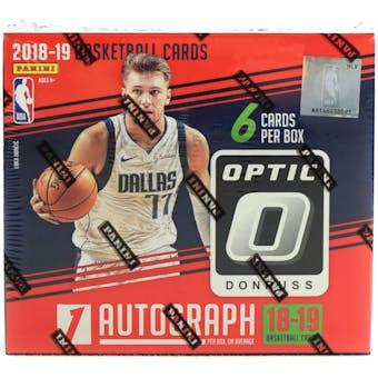 2018/19 Panini Donruss Optic Choice Basketball Hobby Box