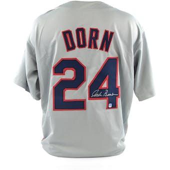 Corbin Bernsen Autographed Roger Dorn Major League Gray Baseball Jersey (DA COA)