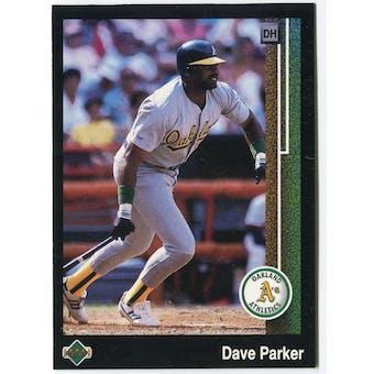 1989 Upper Deck Dave Parker Oakland A's Blank Back Black Border Proof