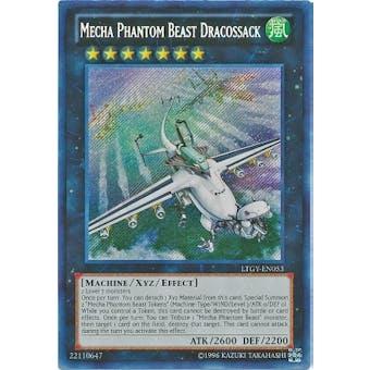 Yu-Gi-Oh Lord Tachyon Galaxy Single Mecha Phantom Beast Dracossack Secret Rare