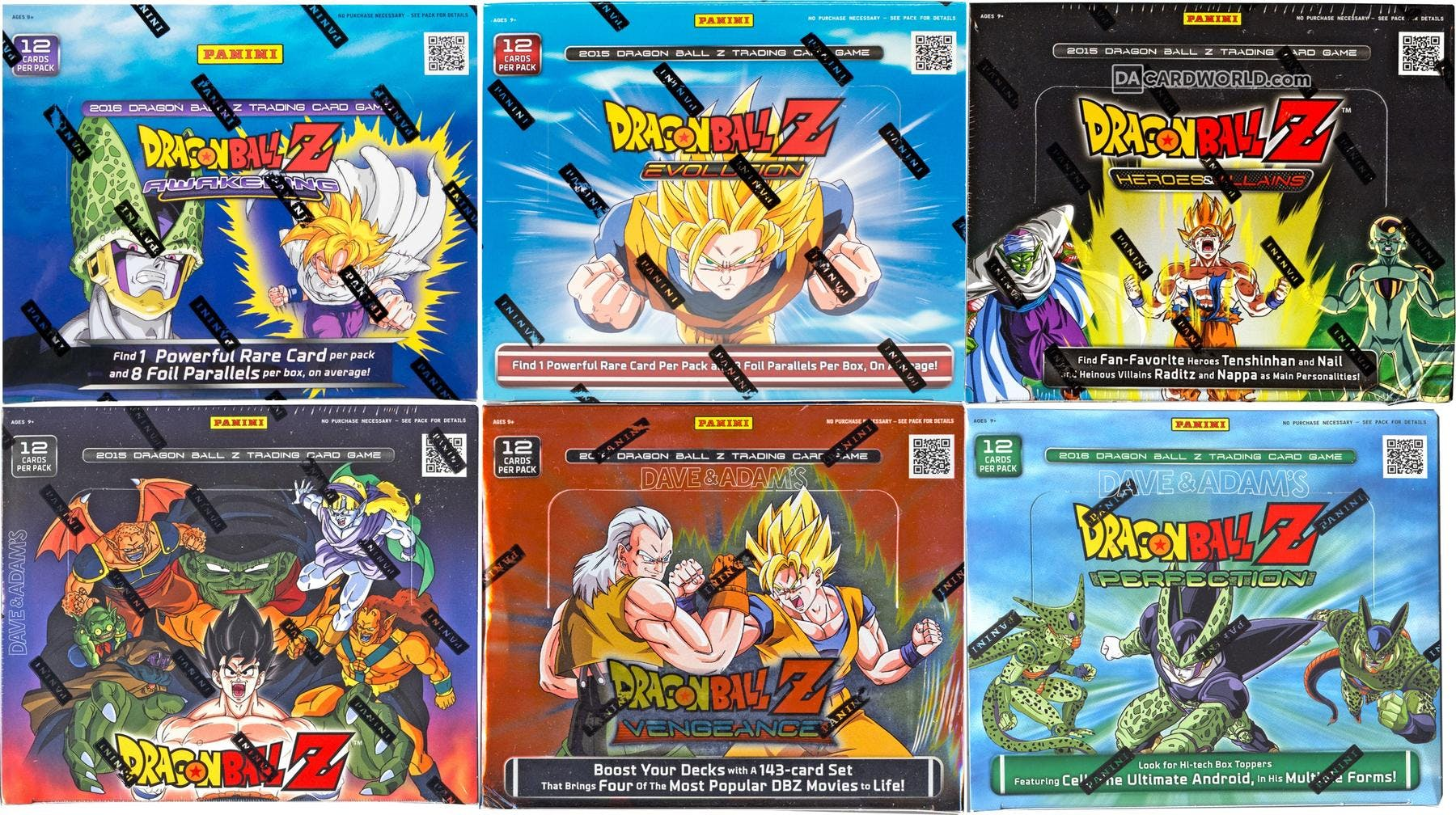 Panini Dragon Ball Z Booster Box Collection Combo 6