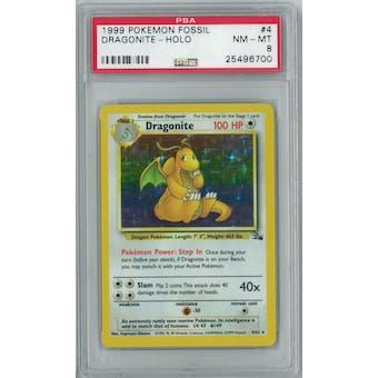 Pokemon Fossil Dragonite 4/62 PSA 8