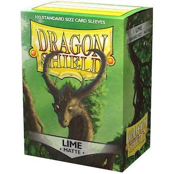 Dragon Shield Card Sleeves - Matte Lime (100)