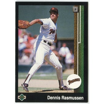 1989 Upper Deck Dennis Rasmussen San Diego Padres #645 Black Border Proof