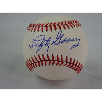 Lefty Gomez Autographed AL Baseball light spotting JSA #HH11491 (Reed Buy)
