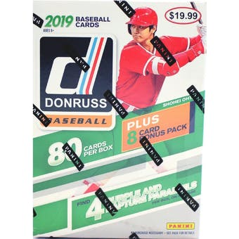 2019 Panini Donruss Baseball 11-Pack Blaster Box (Lot of 3)