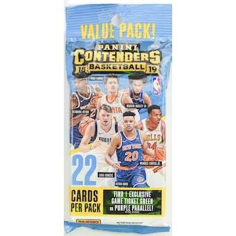 2018/19 Panini Contenders Basketball Jumbo Fat Pack