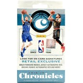 2018/19 Panini Chronicles Basketball 30ct Hanger Box