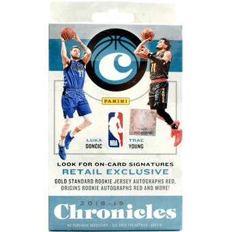 2018/19 Panini Chronicles Basketball 30ct Hanger Box