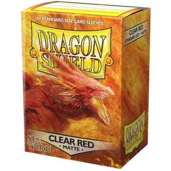 Dragon Shield Card Sleeves - Matte Clear Red (100)