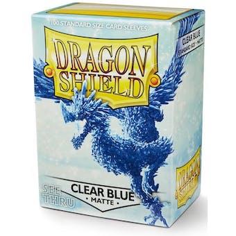 Dragon Shield Card Sleeves - Matte Clear Blue (100)