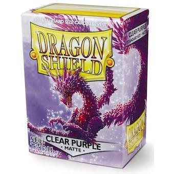 Dragon Shield Card Sleeves - Matte Clear Purple (100)