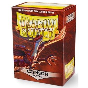 Dragon Shield Card Sleeves - Matte Crimson (100)