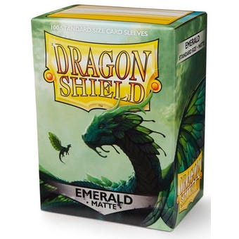 Dragon Shield Card Sleeves - Matte Emerald (100)